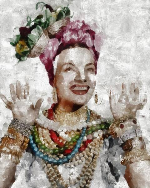 Carmen Wall Art - Painting - Carmen Miranda, Actress by Mary Bassett