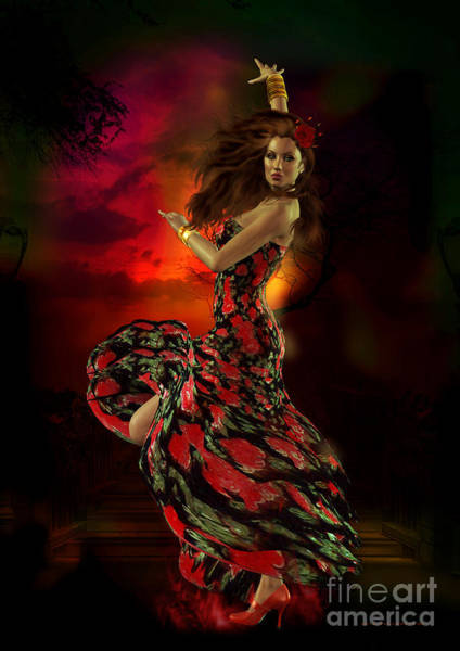 Fire Dance Wall Art - Digital Art - Carmen by Shanina Conway