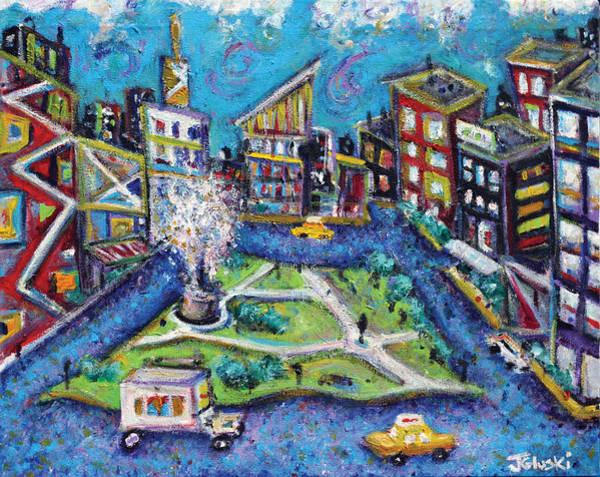 Wall Art - Painting - Carmine Street by Jason Gluskin