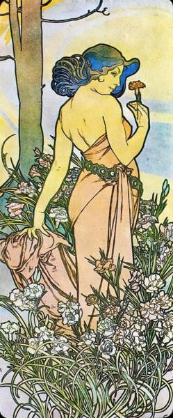 Painting - Carnation by Alphonse Mucha