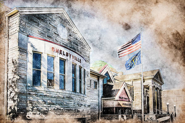 Photograph - Carnegie Library  by Michael Arend