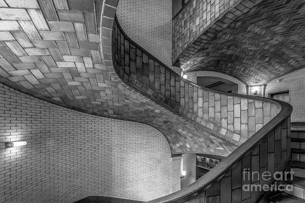 Photograph - Carnegie Mellon University Baker Hall Stairway by University Icons
