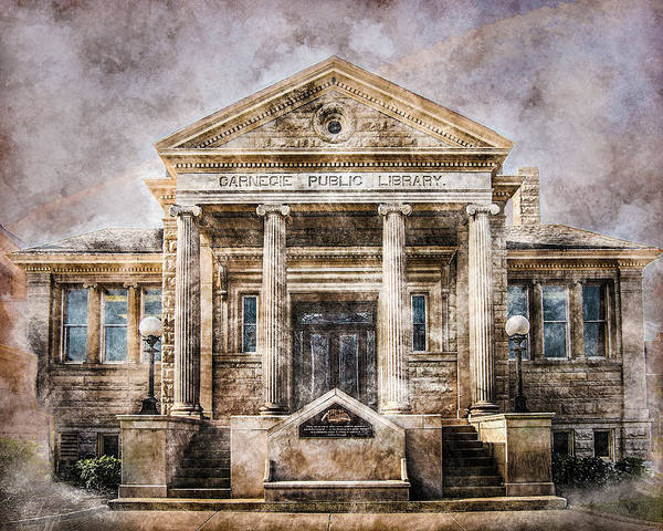 Photograph - Carnegie Public Library by Michael Arend