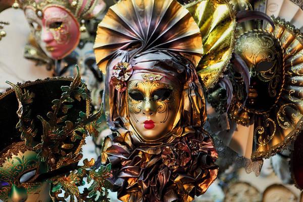 Carnevale Masks In Venice Art Print