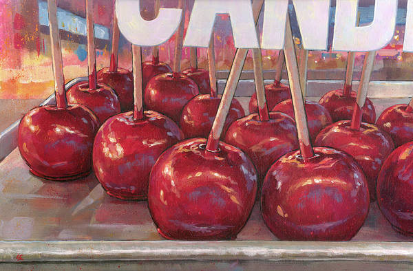 Painting - Carnival Apples by Lesley Spanos