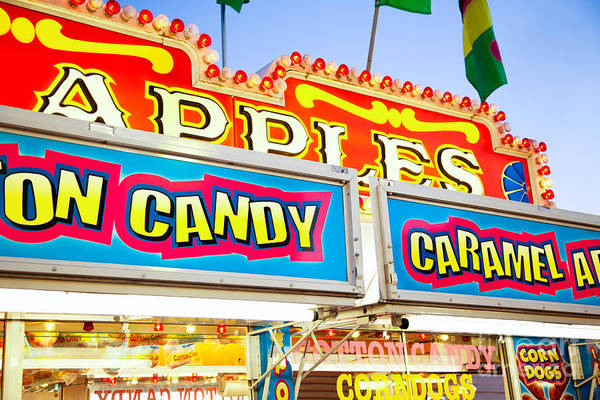 Candy Apples Wall Art - Photograph - Carnival Concession Stand Signs by Paul Velgos