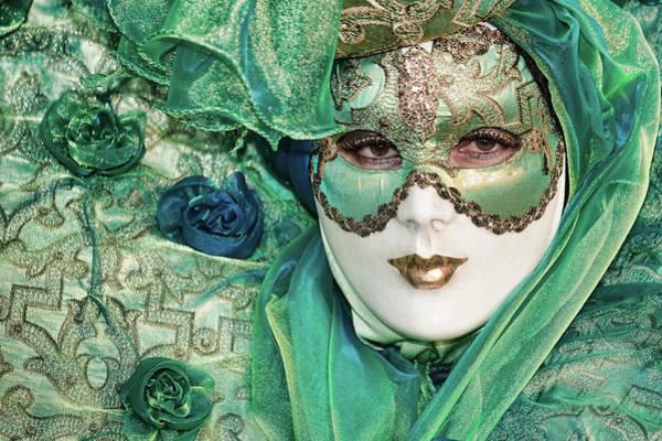 Carnival In Green Art Print