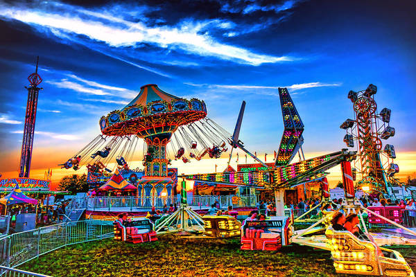 Carnival Rides Wall Art - Photograph - Carnival by Olivier Le Queinec