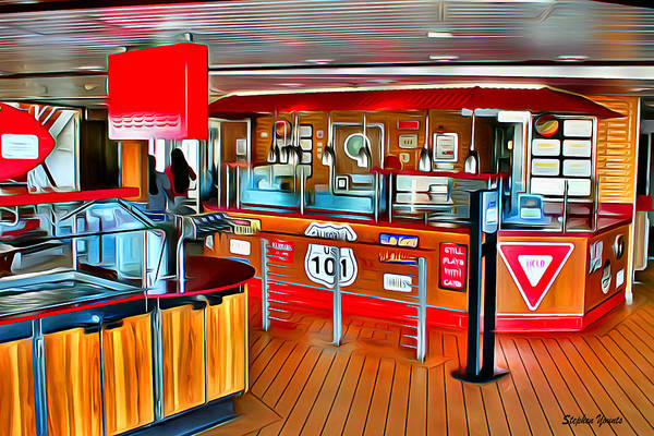 Wall Art - Digital Art - Carnival Pride Guy's Burger Joint by Stephen Younts