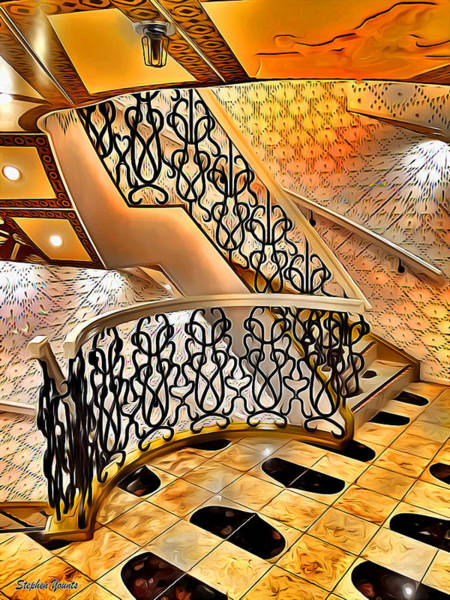 Wall Art - Digital Art - Carnival Pride Stairs by Stephen Younts