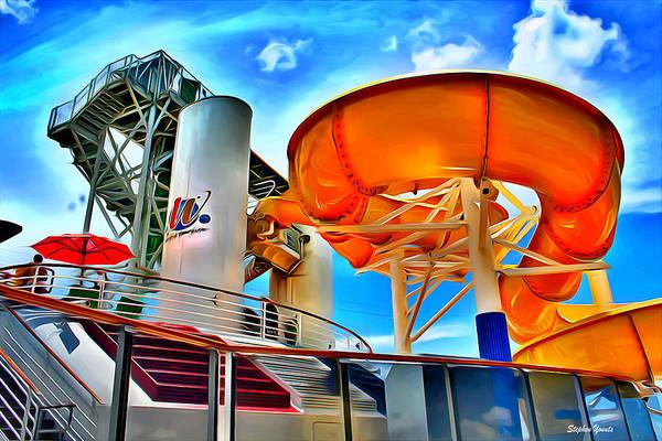 Wall Art - Digital Art - Carnival Pride Water Slide by Stephen Younts