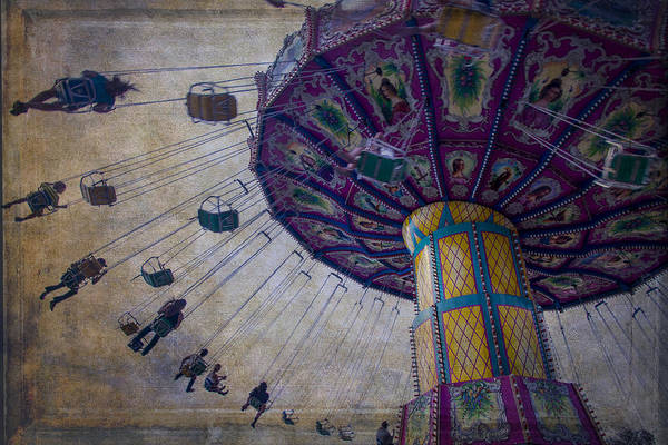 Ferris Wall Art - Photograph - Carnival Ride At The Fair by Garry Gay