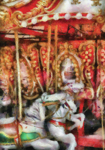 Wall Art - Photograph - Carnival - The Carousel - Painted by Mike Savad