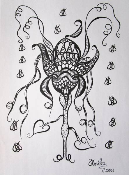 Drawing - Carnivorous by Rosita Larsson