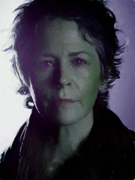 Photograph - Carol Peletier Painted Portrait by Ericamaxine Price