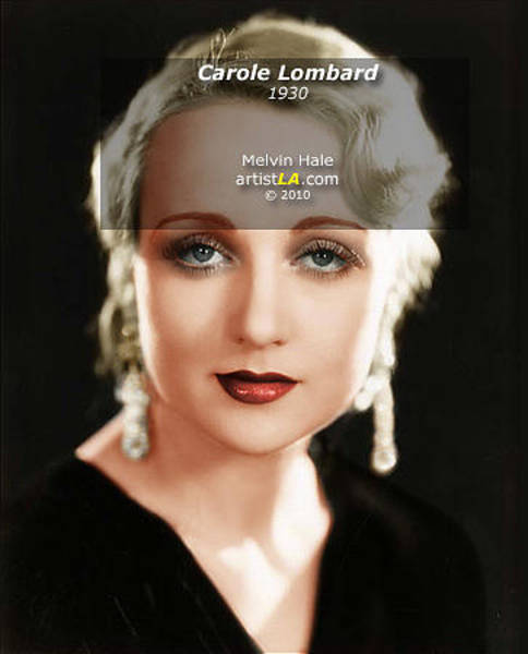 Wall Art - Painting - Carole Lombard C1930 by Melvin Hale