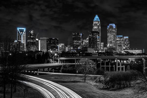 Charlotte Nc Wall Art - Photograph - Carolina Blue Southside by Chris Austin