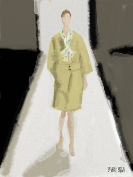Painting - Carolina Herrera Fashion Illustration by Beverly Brown
