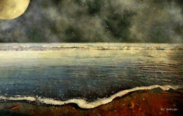 Painting - Carolina Moon by RC DeWinter