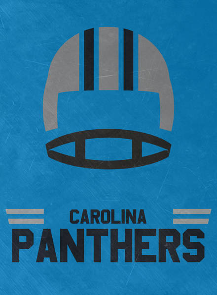 Super Bowl Mixed Media - Carolina Panthers Vintage Art by Joe Hamilton