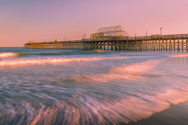 Photograph - Carolinas Apache Fishing Pier At Sunset by Ranjay Mitra