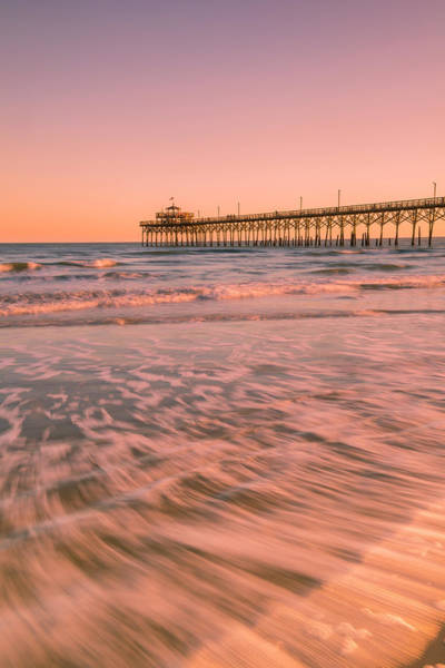 Photograph - Carolinas Cherry Grove Fishing Pier At Sunset by Ranjay Mitra