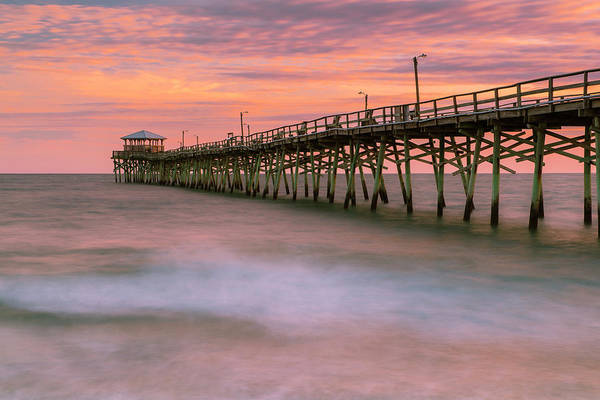Photograph - Carolinas Ocean Crest Fishing Pier At Sunset by Ranjay Mitra