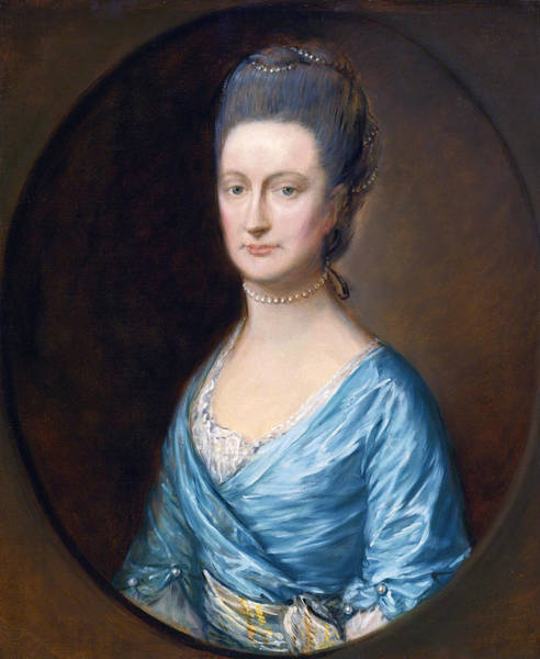 Thomas Gainsborough Wall Art - Painting - Caroline Fludyer by Thomas Gainsborough