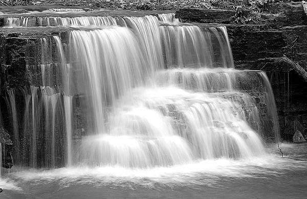 Photograph - Caron Falls by Larry Ricker