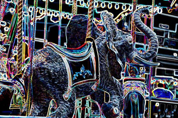 Photograph - Carosel Dream Elephant by Lesa Fine