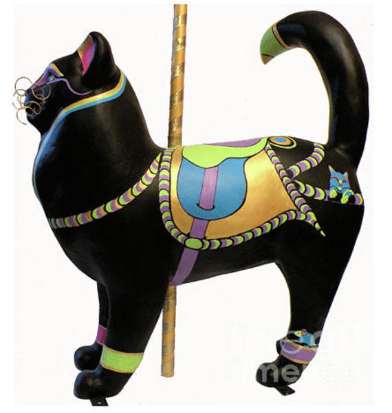 Wall Art - Painting - Carousel Cat 2 by Susan A Becker