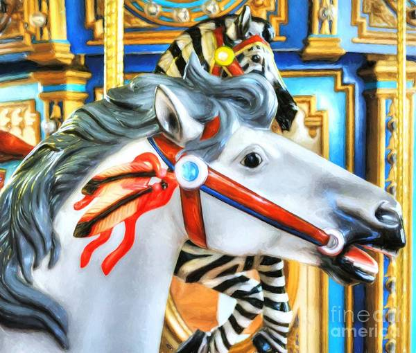 Photograph - Carousel Colors # 10 by Mel Steinhauer