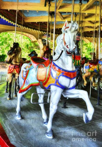 Photograph - Carousel Colors # 7 by Mel Steinhauer