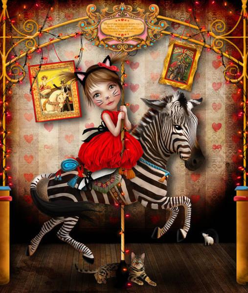 Wall Art - Digital Art - Carousel Dreams by Jessica Von Braun