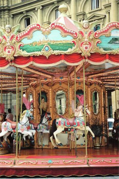 Carousel Mixed Media - Carousel, Florence by Pamela Fall