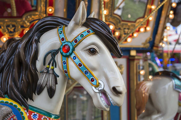 Photograph - Carousel Horse by Denise Bush