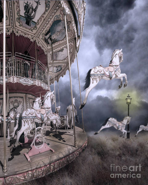 Merry Go Round Photograph - Carousel Horses by Juli Scalzi