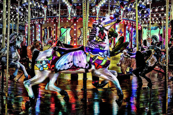 Photograph - Carousel In Saint Joseph Michigan by Michael Arend