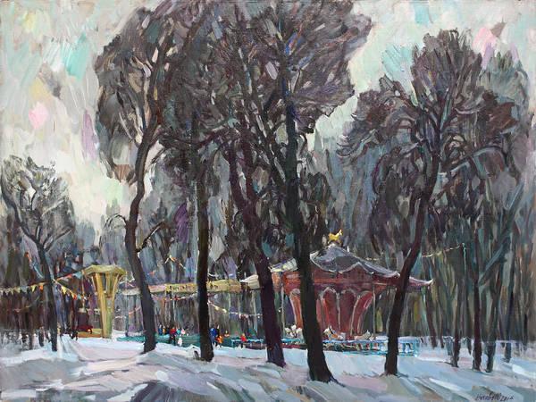 Wall Art - Painting - Carousel by Juliya Zhukova
