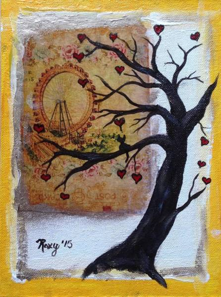 Tree Painting - Carousel Kitty by Roxy Rich