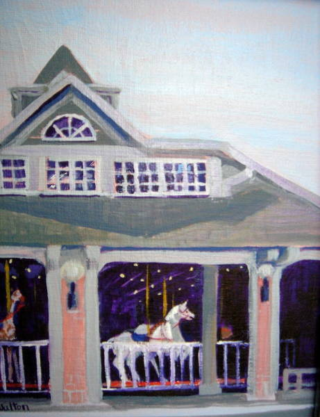 Painting - Carousel Mansfield Oh by Judy Fischer Walton