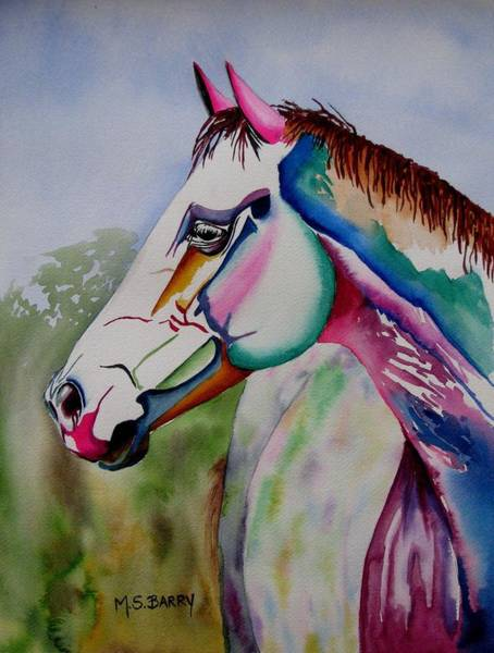 Wall Art - Painting - Carousel by Maria Barry