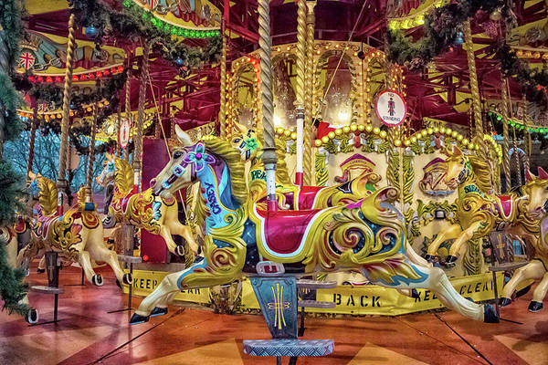 Carousel Horse Photograph - Carousel by Martin Newman