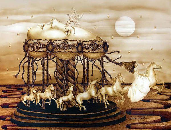 Wall Art - Painting - Carousel Of Life by Lilibeth Kindle