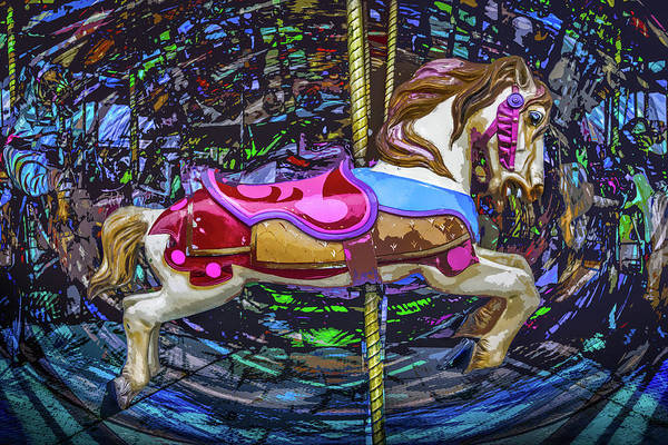 Photograph - Carousel Prancing  by Michael Arend