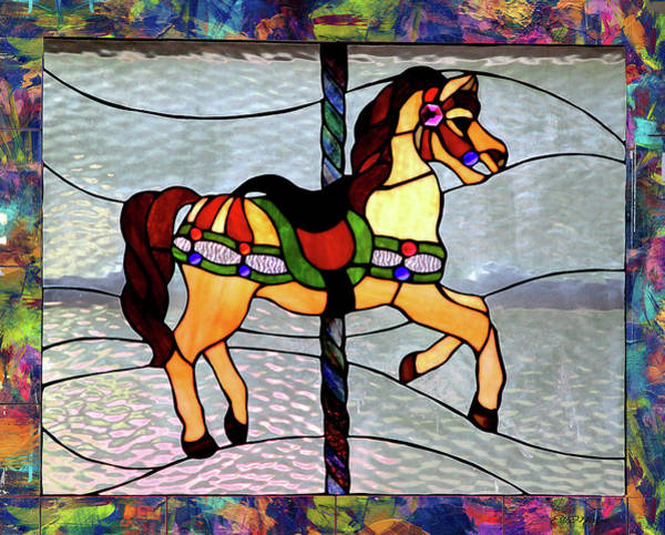 Photograph - Carousel Stained Glass by Ericamaxine Price
