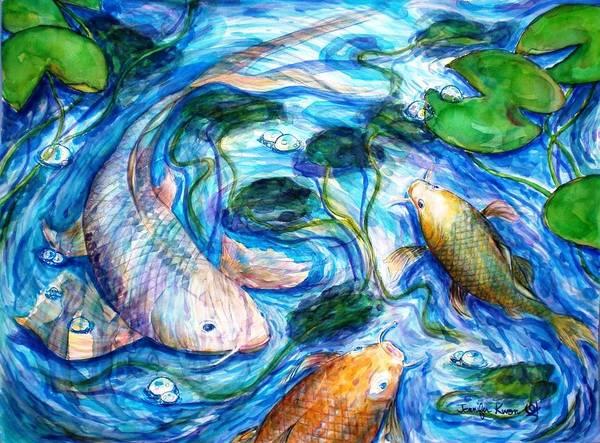 Wall Art - Painting - Carp Fish by Jennifer Kwon