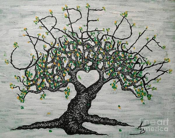 Drawing - Carpe Diem Love Tree by Aaron Bombalicki