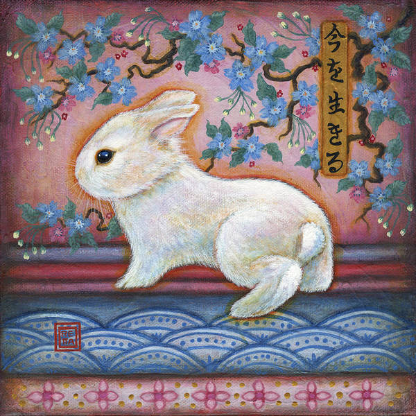 Painting - Carpe Diem Rabbit by Retta Stephenson