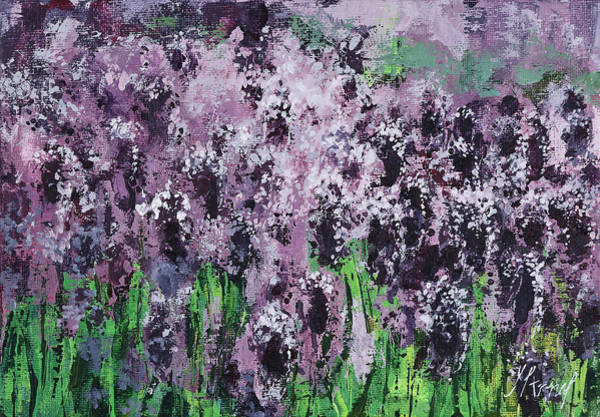 Painting - Carpet Of Lavender by Maria Arnaudova